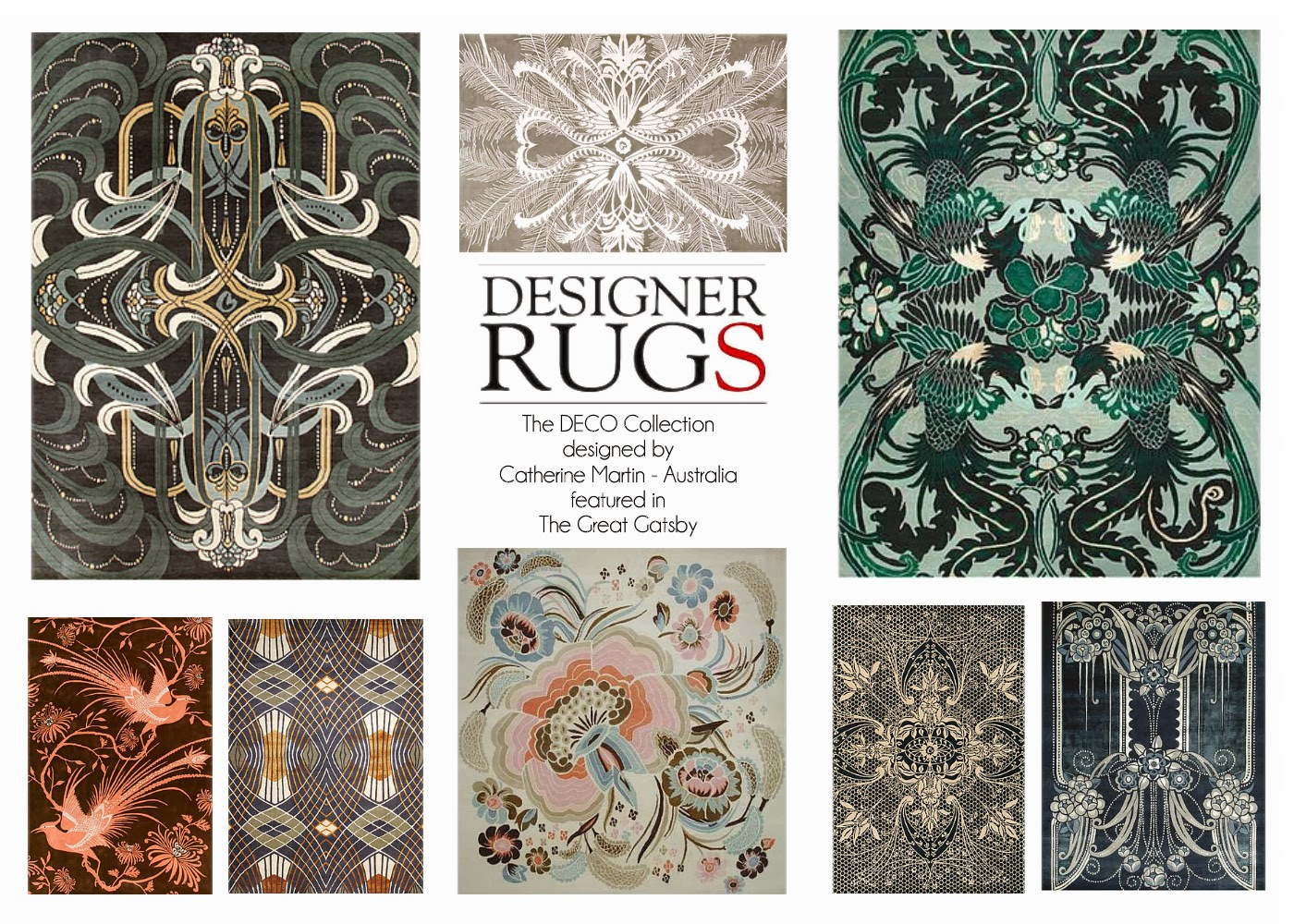The Great Gatsby rugs, dywany Catherine Martin. Wielki Gatsby