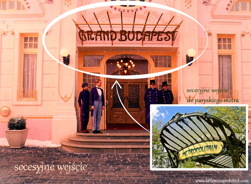 Grand Budapest Hotel, Art Deco, secesja, metro Paryż