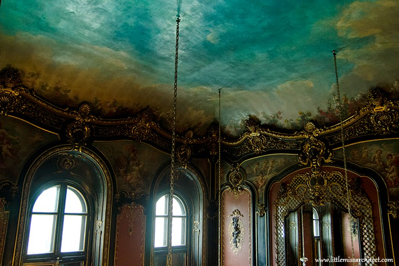 Pałac w Pszczynie, wnętrza, neobarkok, wnętrze barokowe, barok