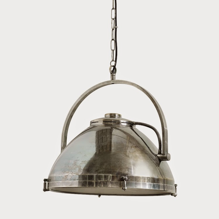 metalowa lampa, lampa industrialna