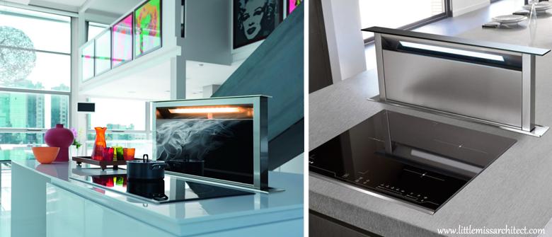wysuwany okap kuchenny, nowoczesne rozwiązania do kuchni, funkcjonalna kuchnia