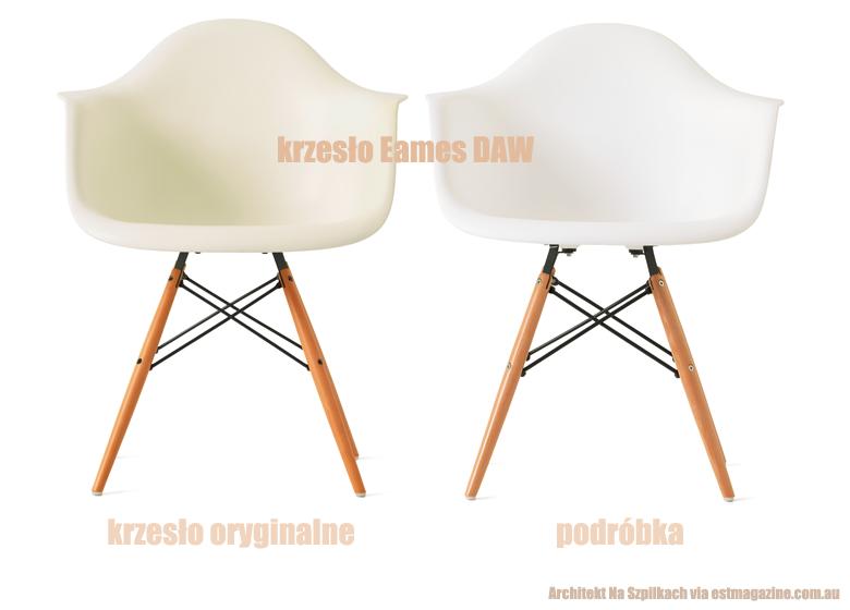 meble inspirowane Eames DAW chair, oryginał, podróbka