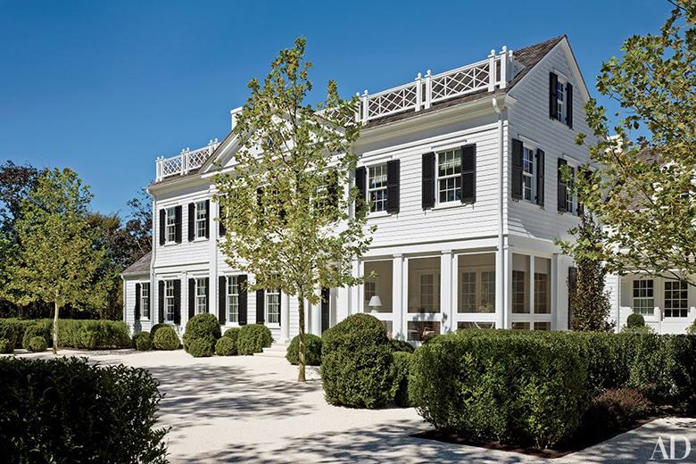 Amerykańskie wnętrza, amerykańskie kuchnie - styl Hamptons.