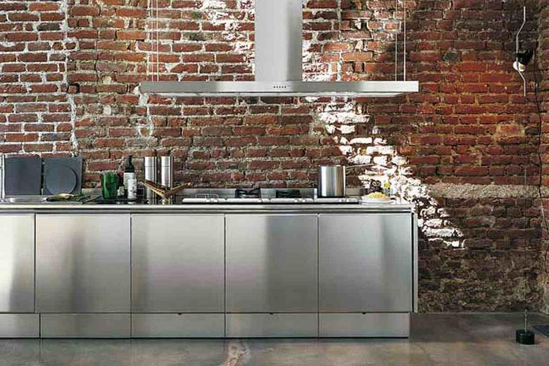 Metalowe szafki kuchenne - inspiracje.
