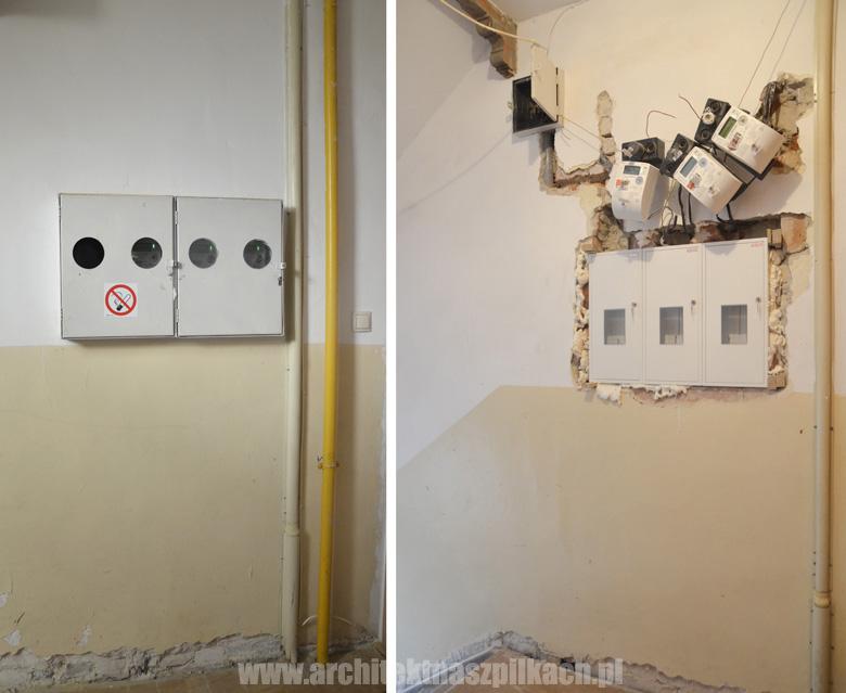 liczniki zlicowane ze ścianą
