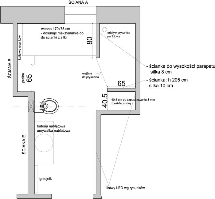 Moja łazienka - układ, koncepcja aranżacji i pierwsze zdjęcia