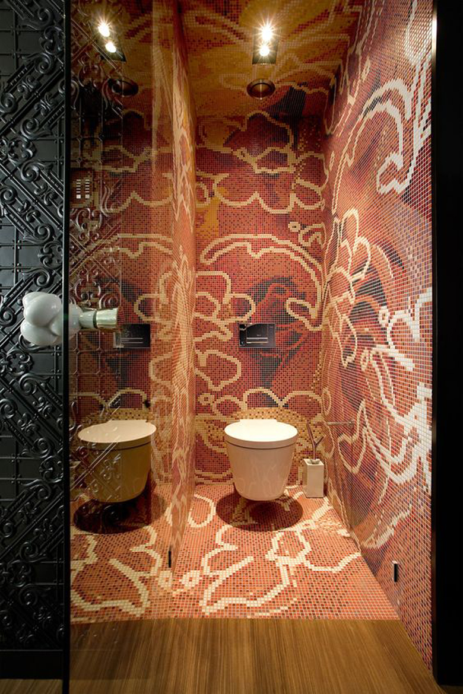 Bardzo oryginalne i ekstrawaganckie łazienki.