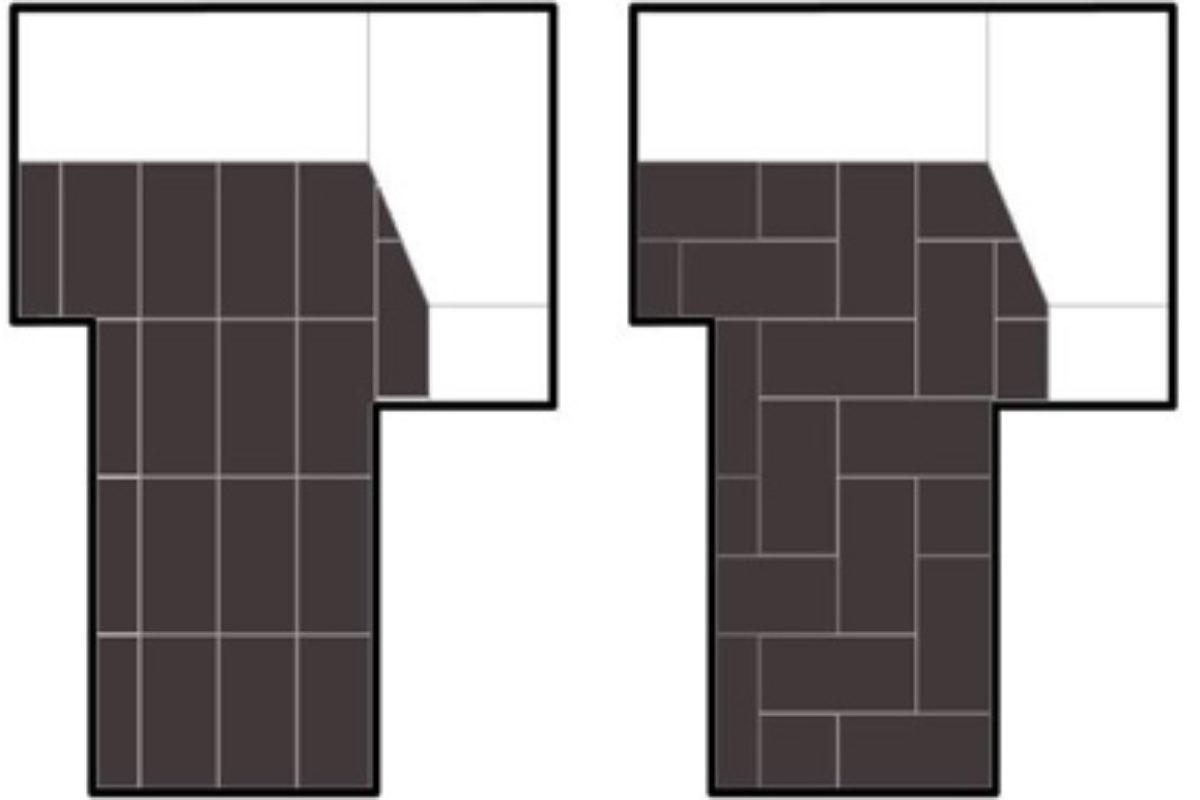 Różne możliwości ułożenia tych samych kafli | PORADY ARCHITEKTA