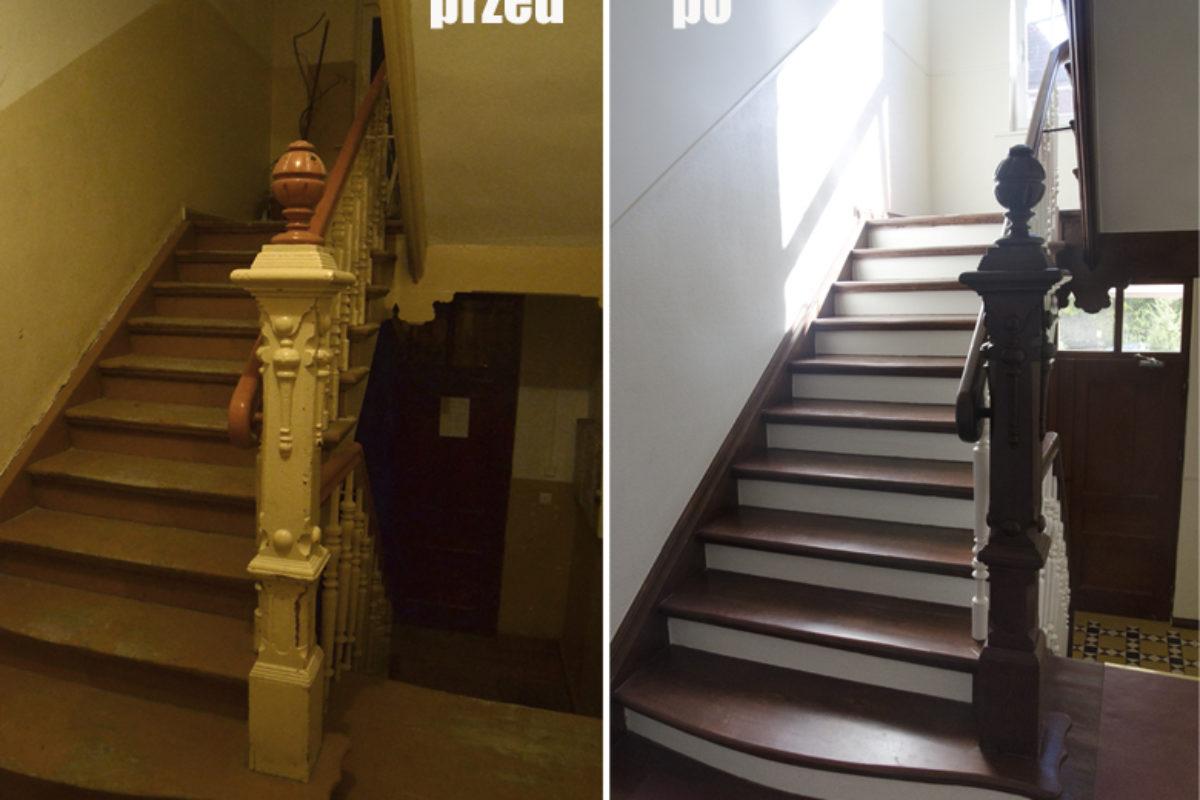 Remont klatki schodowej w kamienicy PRZED-PO