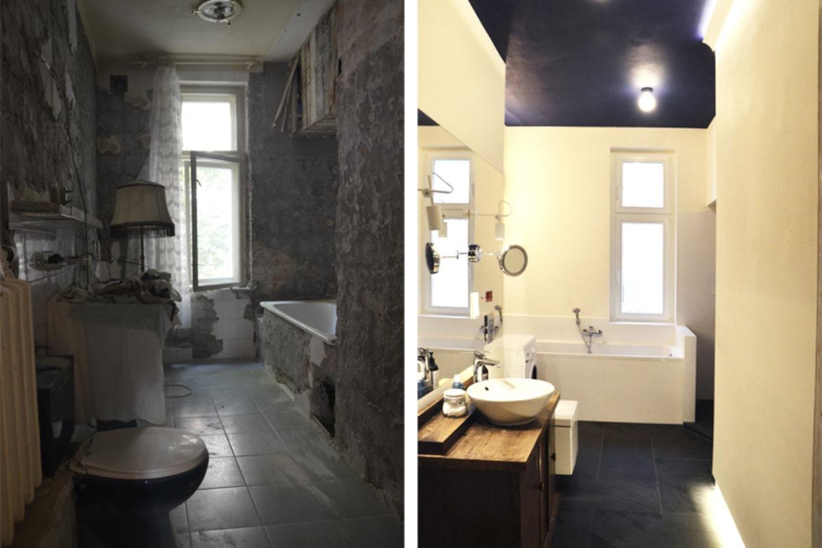 ŁAZIENKA: Moja łazienka z granatowym sufitem – PRZED-PO | MOJE MIESZKANIE ODCINEK 14