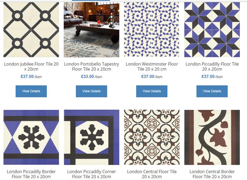 kafle na podloge ze wzorami marokanskie orientalne zestawienie