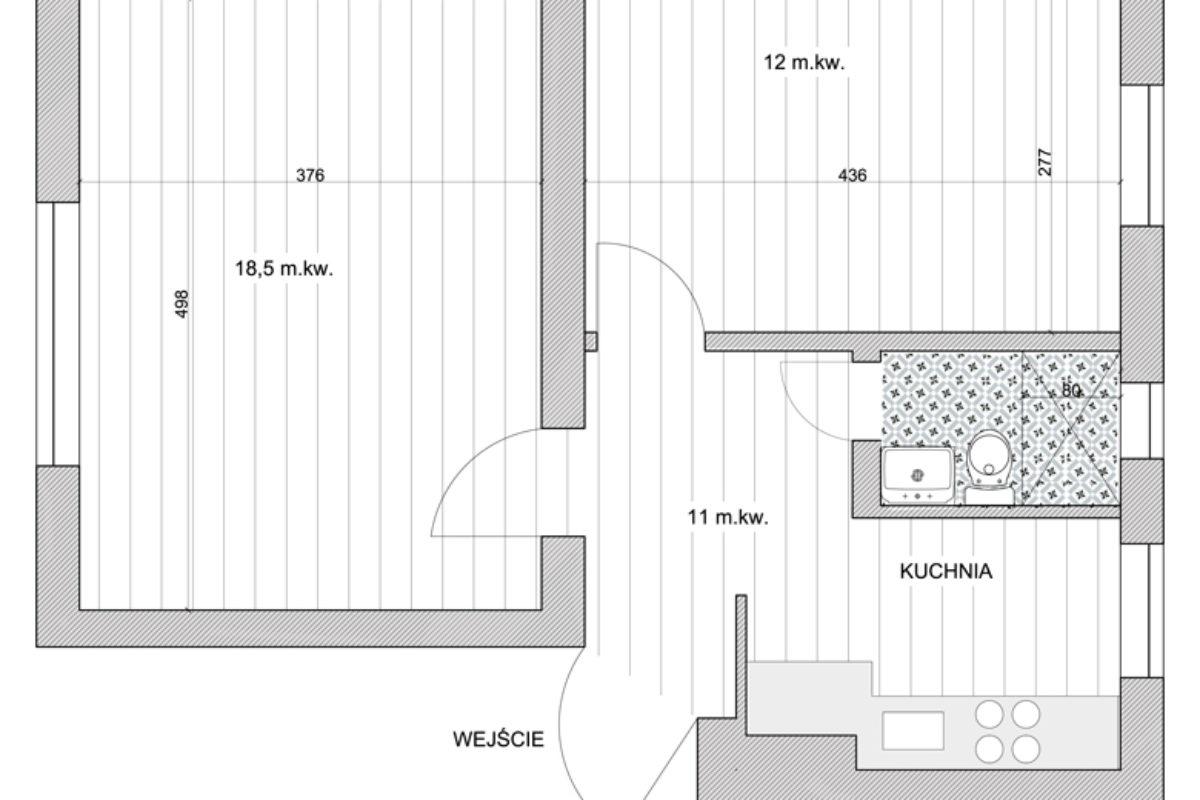 """CZĘŚĆ 1: Mieszkanie inwestycyjne w kamienicy  – remont mieszkania na """"flipa"""""""